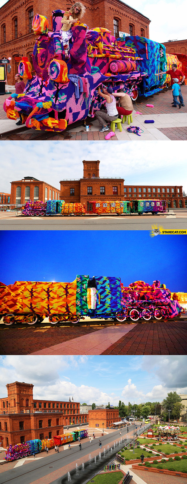 Colorful train Lodz Manufacture