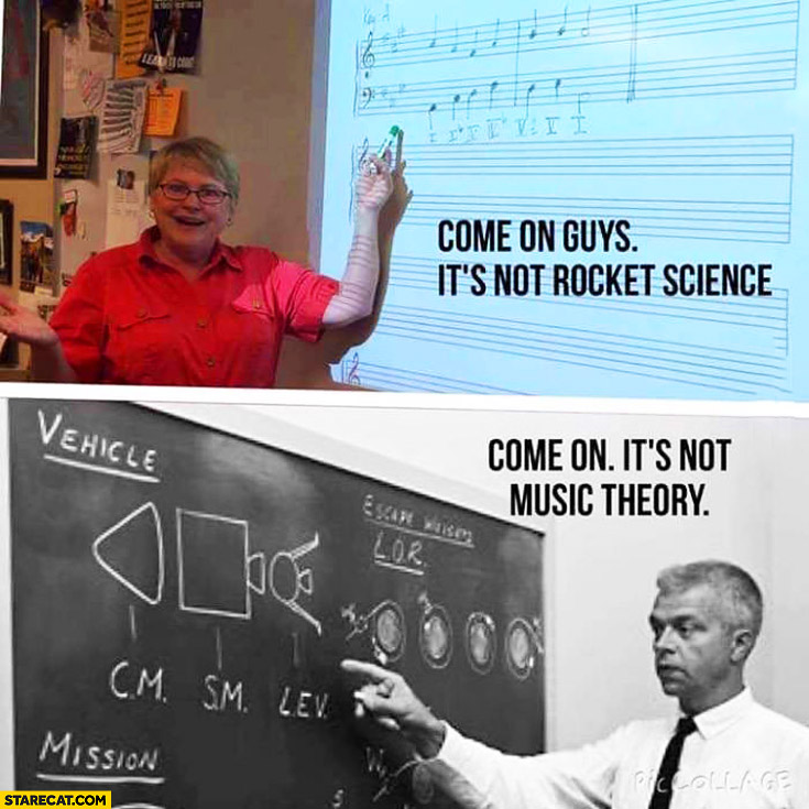 Come on guys it's not rocket science, come on it's not music theory