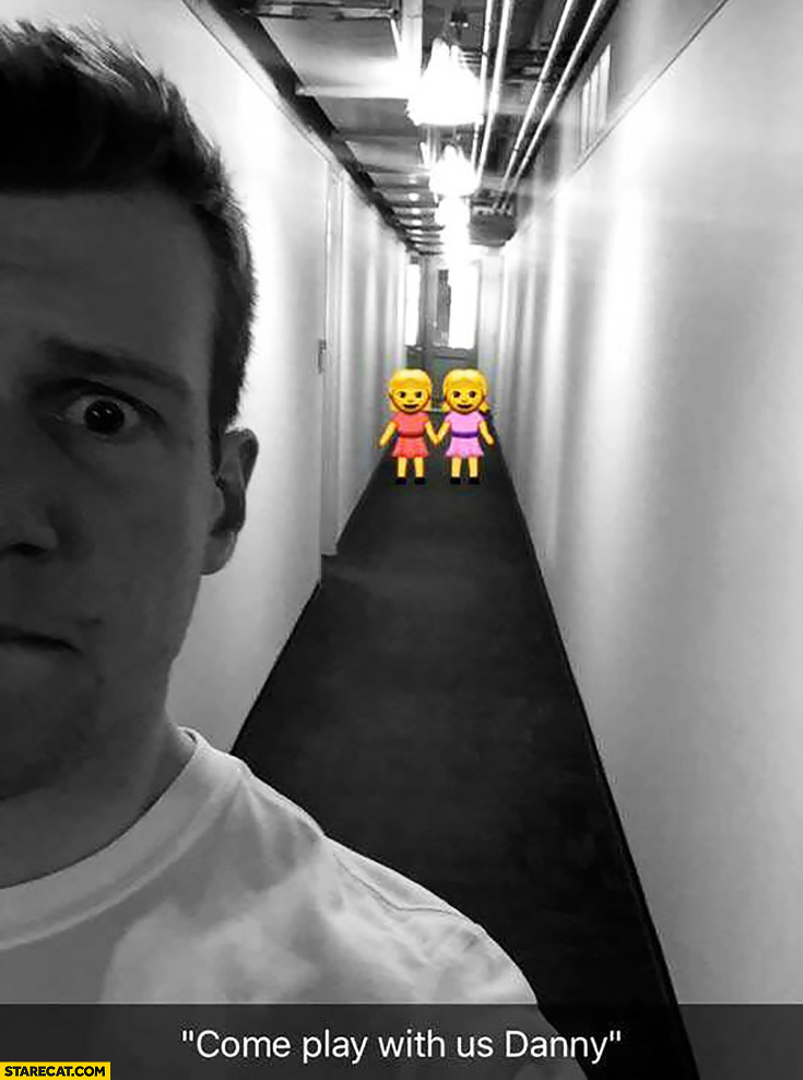 Come play with us Danny creative use of snapchat emoticons two small girls