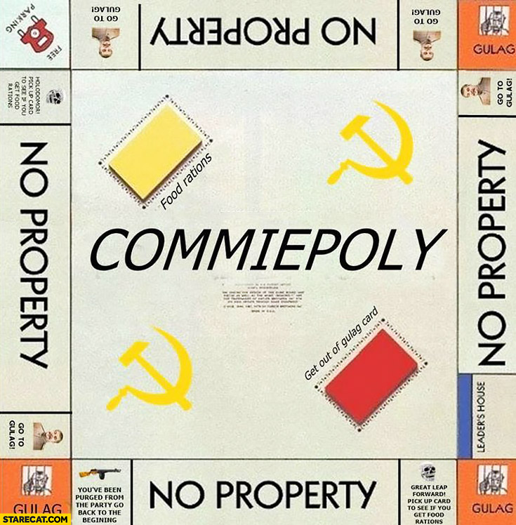 Commiepoly communist monopoly game go to gulag no property