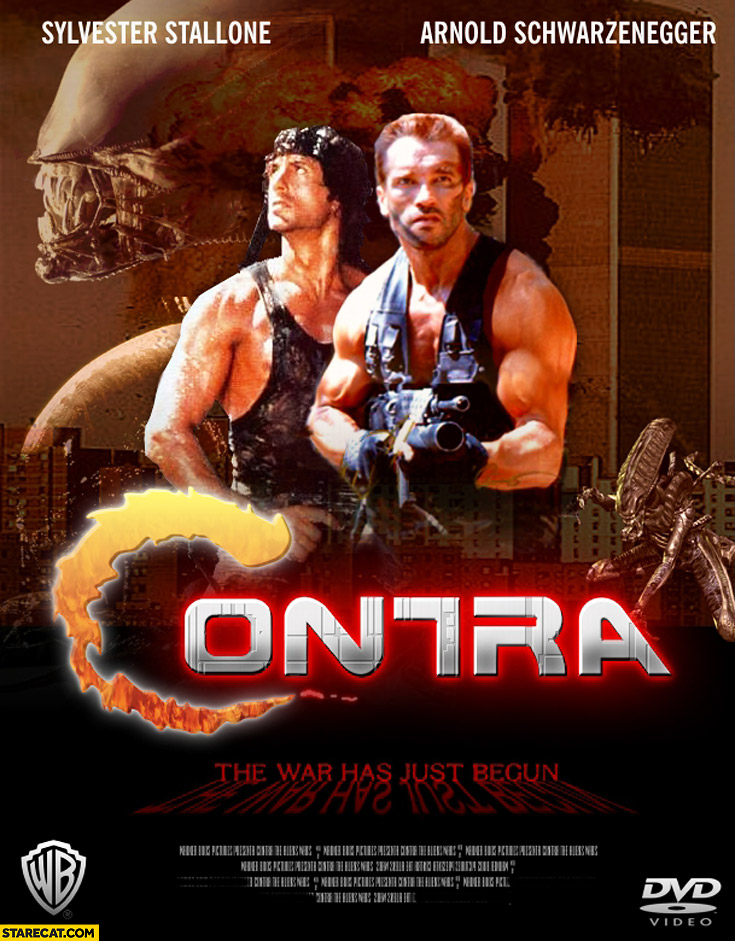 Contra game movie Sylvester Stallone Arnold Schwarzenegger