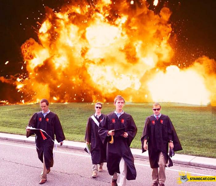 Coolest graduation day photo