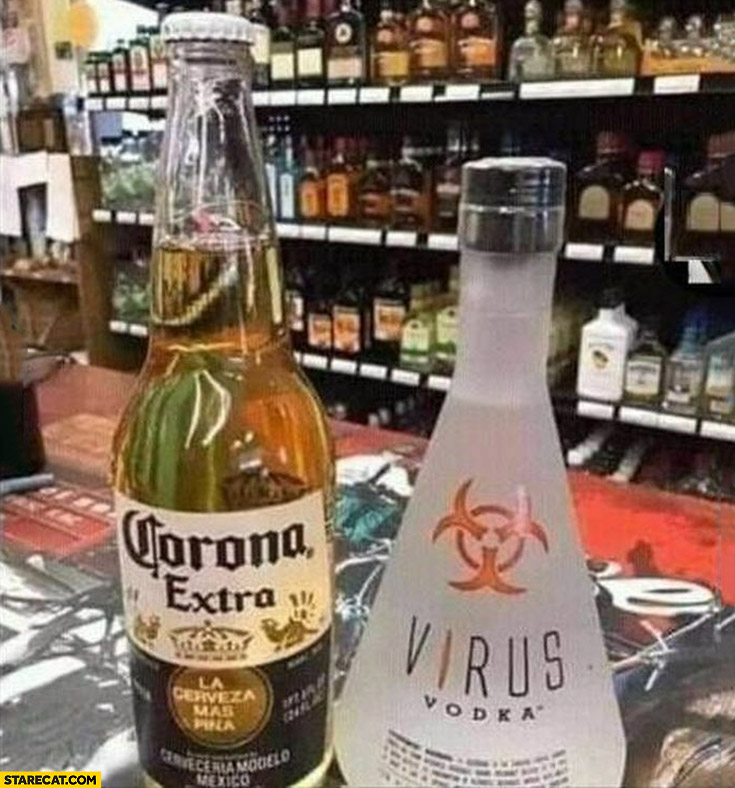 Corona extra beer vs virus vodka