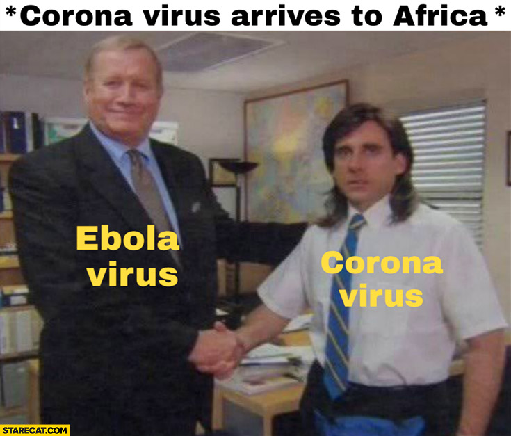 Corona virus arrives to Africa, ebola virus welcomes it