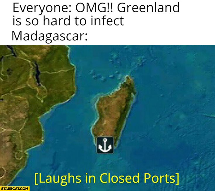 Corona virus Greenland is so hard to infect, Madagascar laughs in closed ports