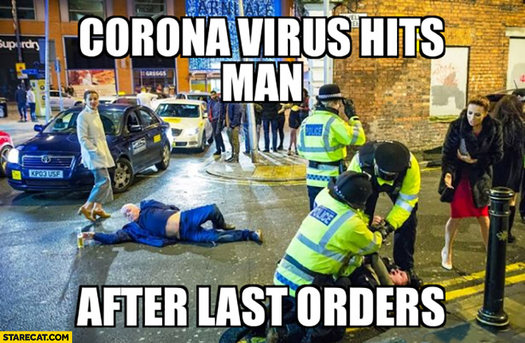 Corona virus hits man after last order Corona Extra beer UK