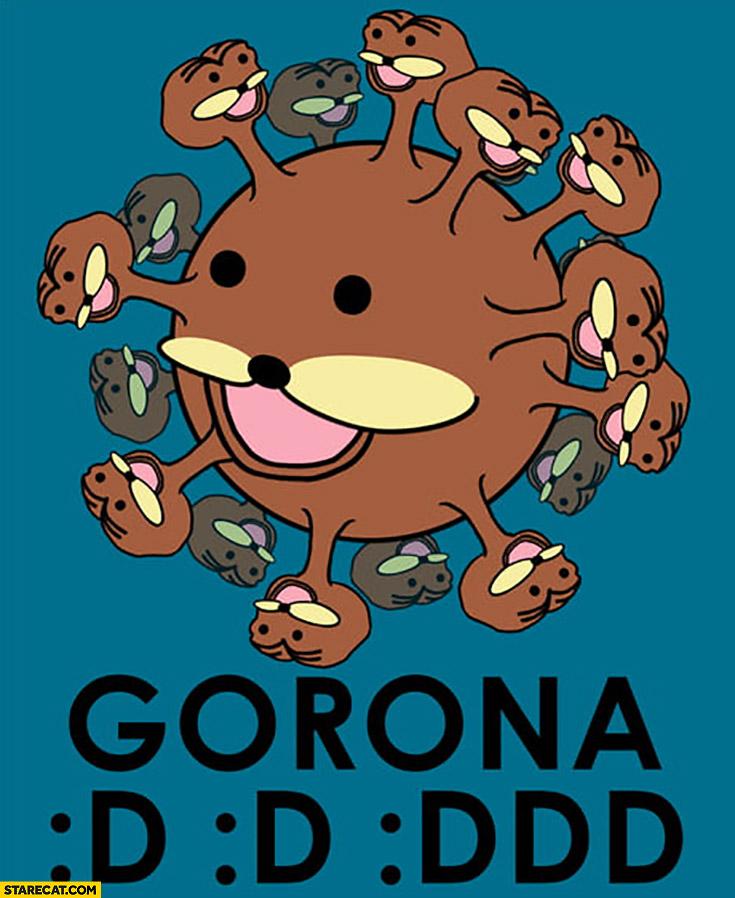 Corona virus Spurdo Sparde meme drawing Gorona