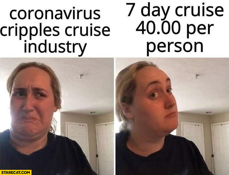 Coronavirus cripples cruise industry, 7 day cruise 40 per person