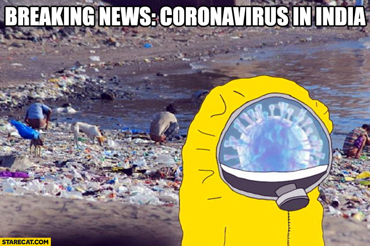 Coronavirus in India wearing safety uniform protective suit breaking news