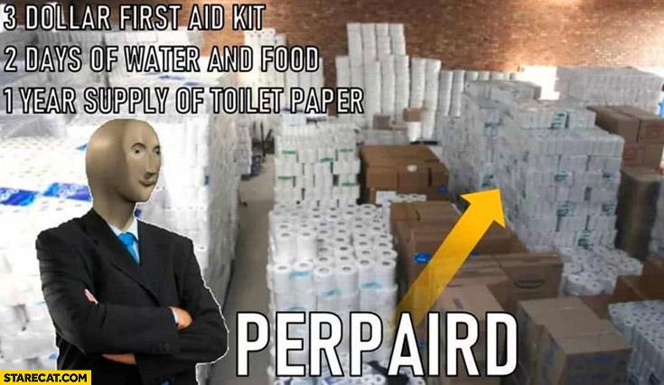 Coronavirus memes 1 year supply of toilet paper prepared