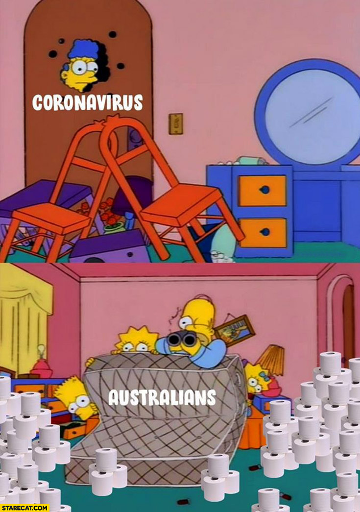 Coronavirus vs Australians The Simpsons