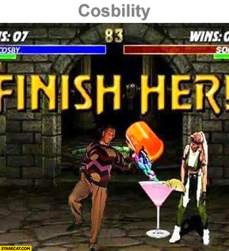 Cosbility finish her Mortal Kombat Bill Cosby