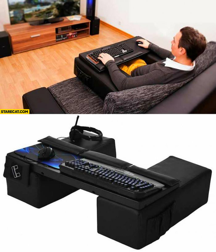 Couch gaming cockpit shut up and take my money