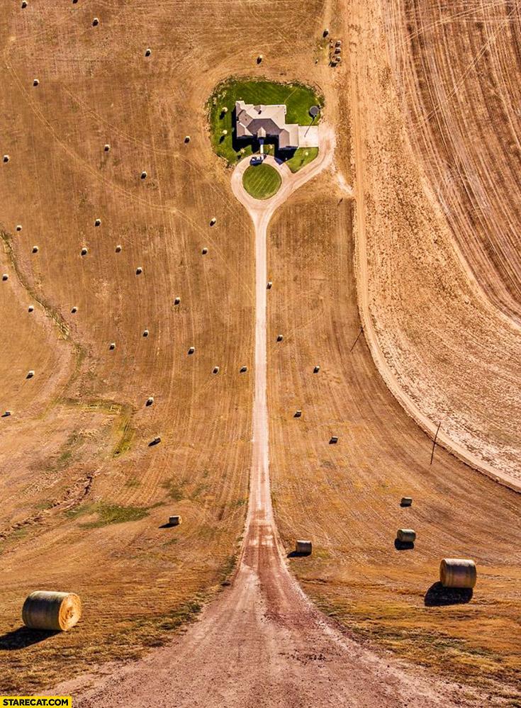 Creative aerial view to horizontal view photoshopped merged photos