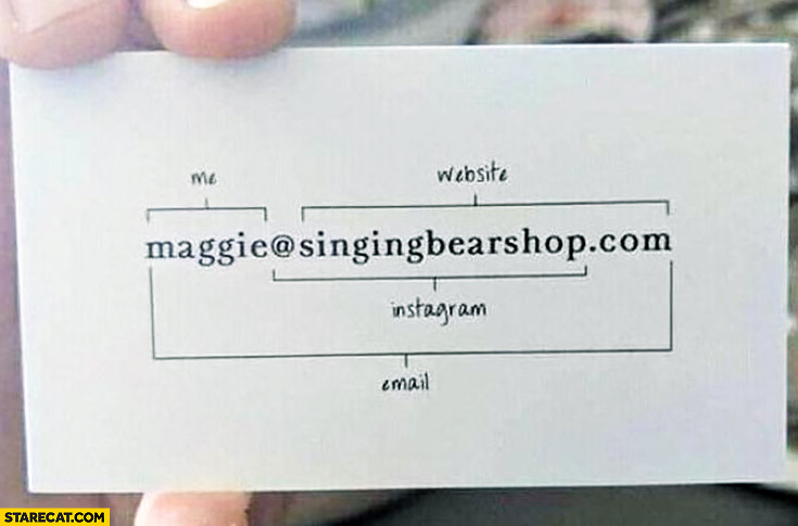 Creative business card me website instagram email