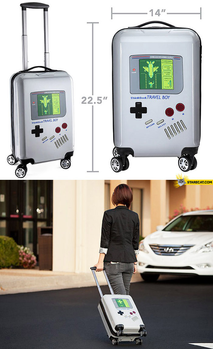 Creative Game Boy Travel Boy luggage bag