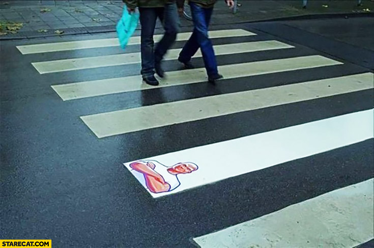 Creative Mr Proper AD pedestrian crossing cleaner