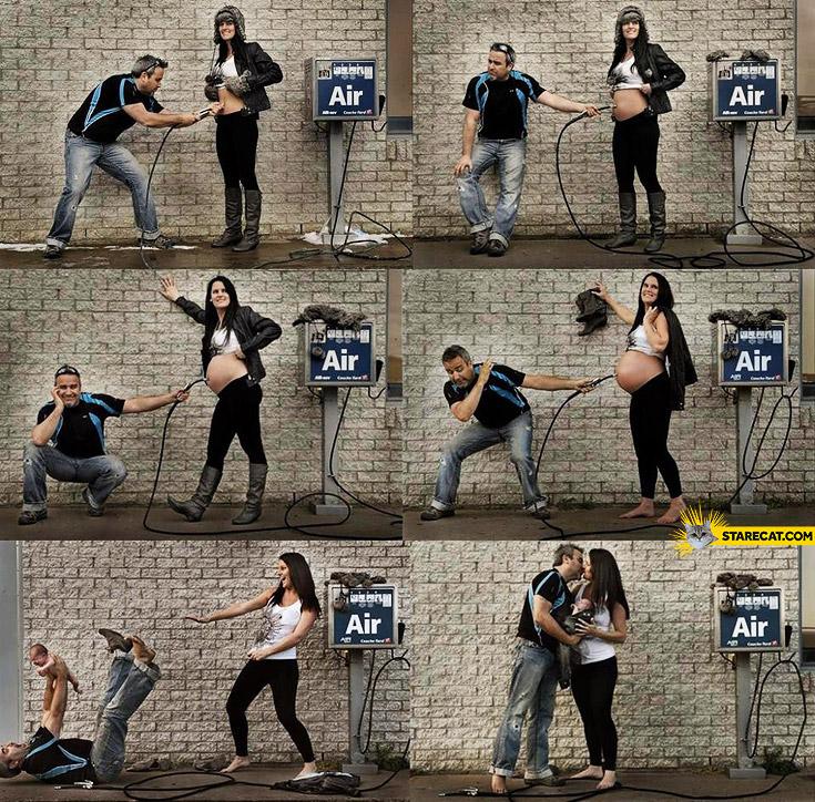 Creative pregnancy session air compressor