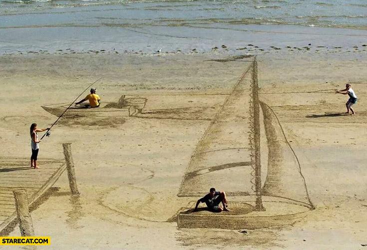 Creative sand illustration