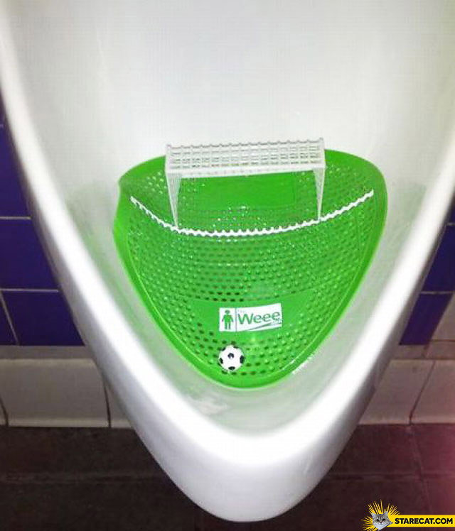 Creative urinal game football weee