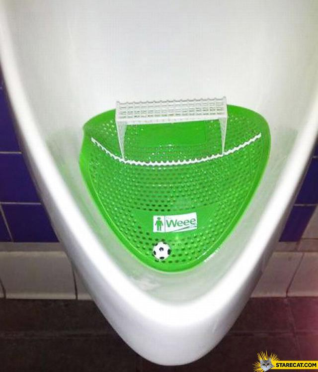 Creative urinal game football weee