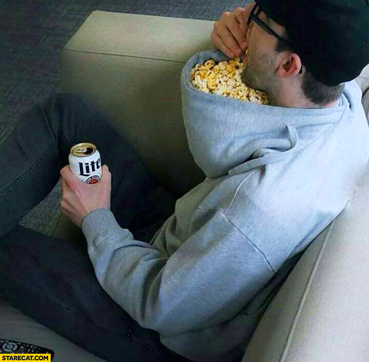 Creative use of the hood popcorn