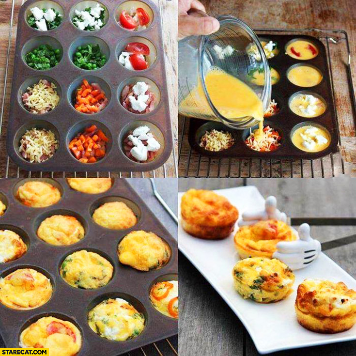 Creative way to make an omlette