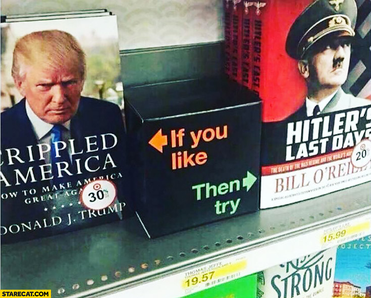 Crippled America Donald Trump book if you like then try Adolf Hitler's last days