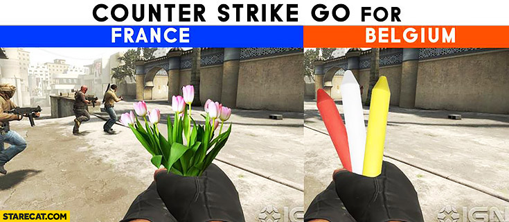 CS:GO Counter-Strike GO for France tulips, for Belgium chalk
