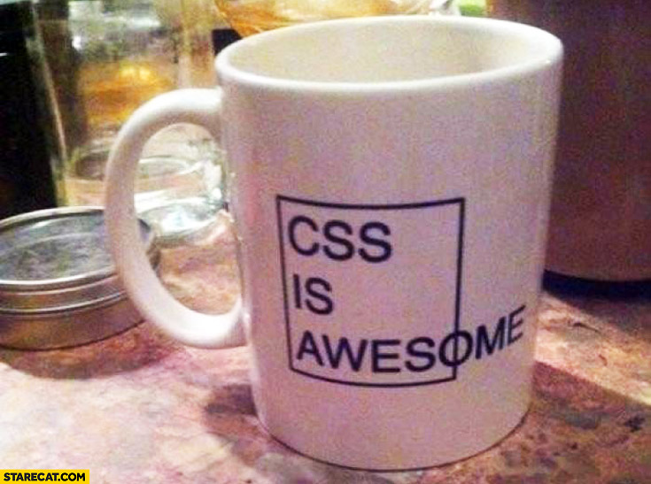 CSS is awesome border fail creative mug