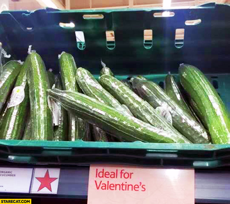 Cucumber ideal for Valentine's groceries
