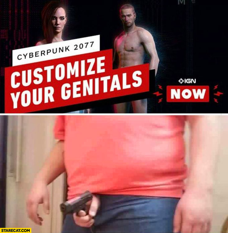Customize your genitals Cyberpunk 2077