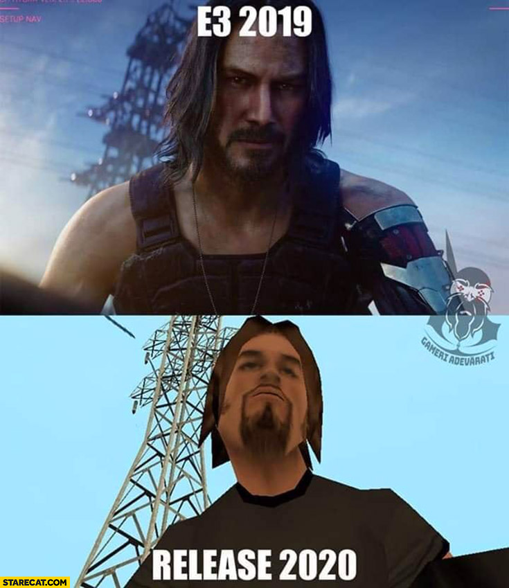 Cyberpunk 2077 game on E3 2019 vs release 2020 poor graphics