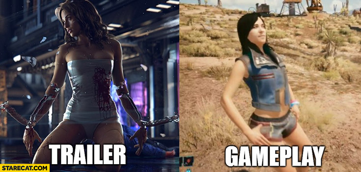 Cyberpunk 2077 trailer vs gameplay comparison