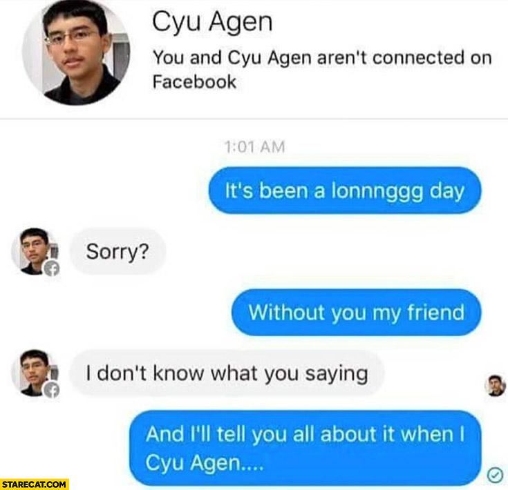 Cyu Agen facebook name trolling