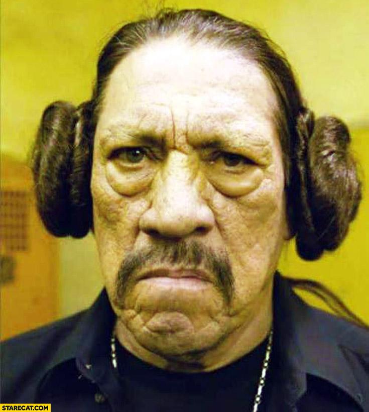 Danny Trejo Machete Leia hairstyle