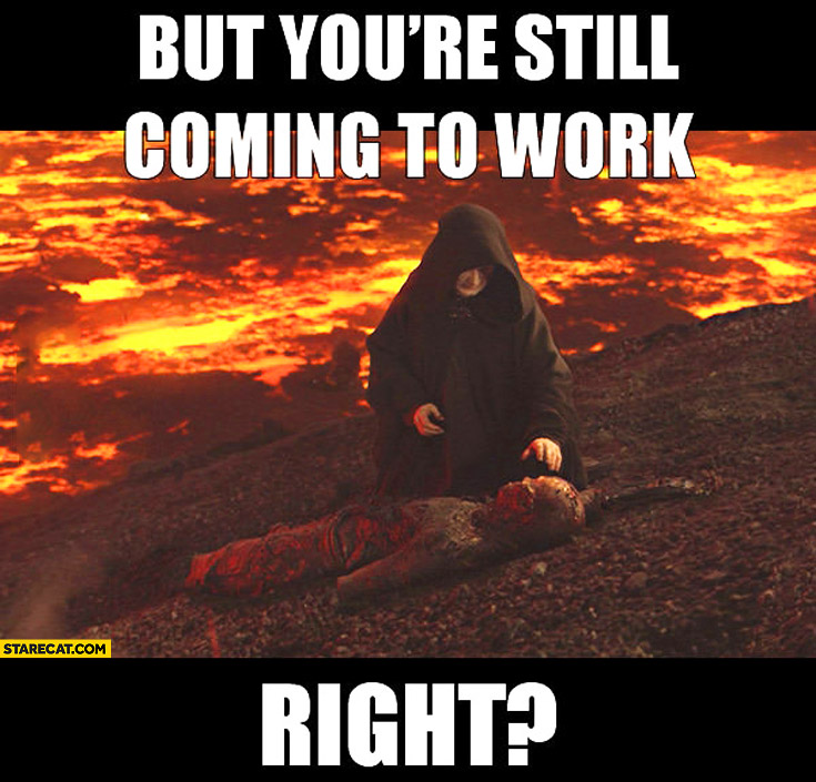 Image result for dead but still going to work