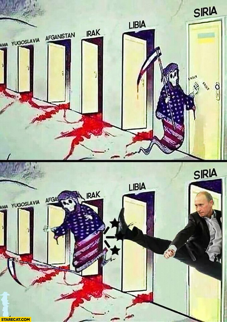 Death knocking on Syria doors Putin kicks it out