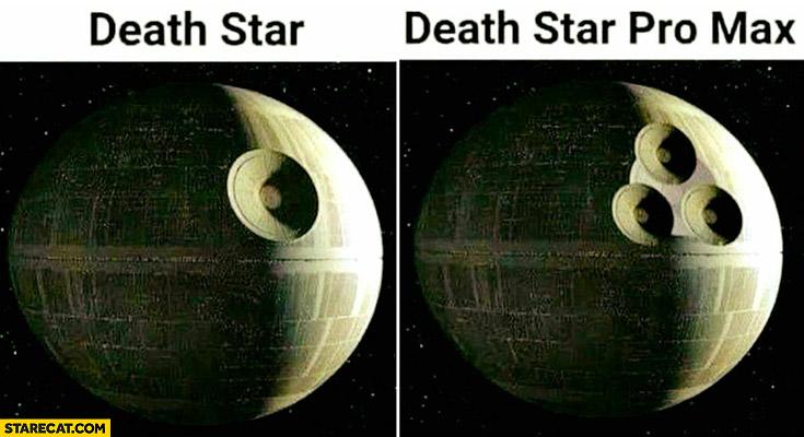 Death star vs death star pro max iPhone camera lens Star Wars