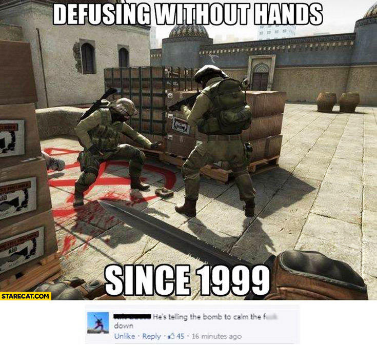 Defusing without hands since 1999 he's telling the bomb to calm down