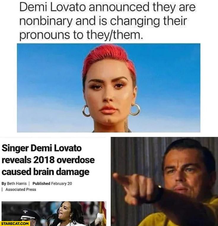 Demi Lovato is nonbinary in 2018 overdose caused brain damage
