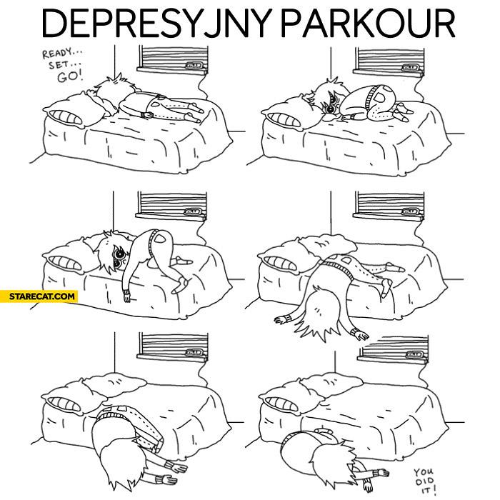 Depression parkour