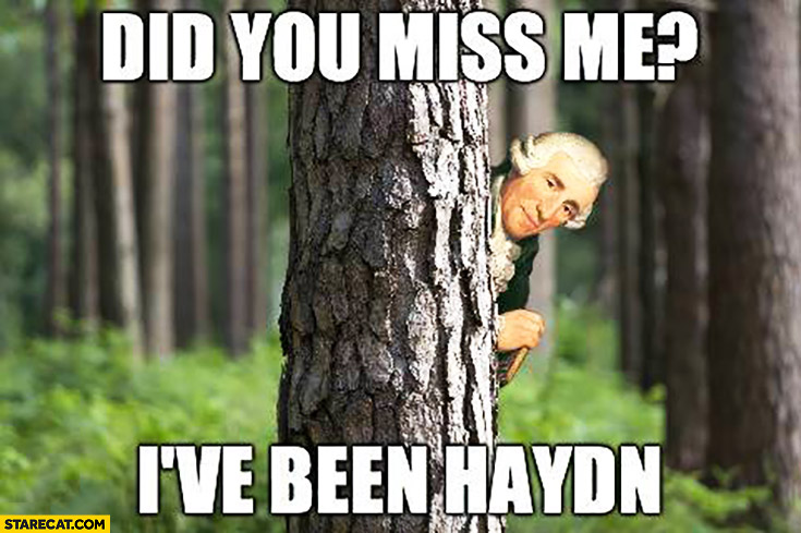 Did you miss me? I've been Haydn
