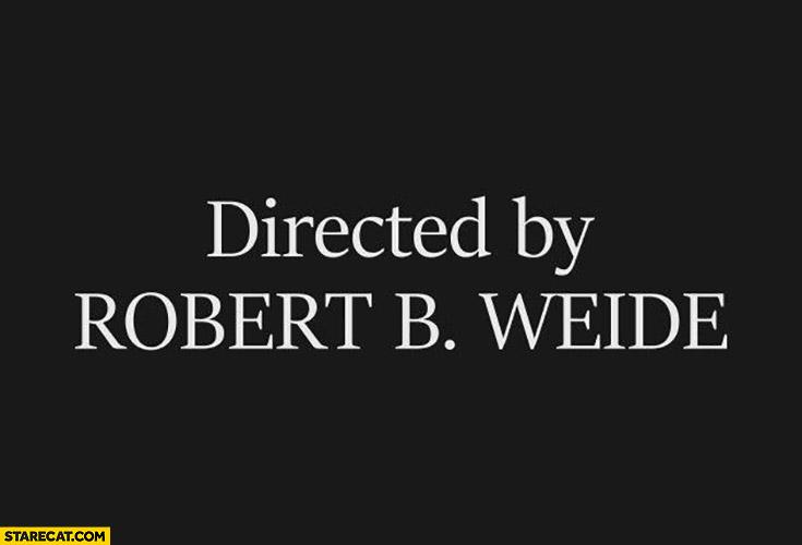 Directed by Robert B. Weide movie ending final screen