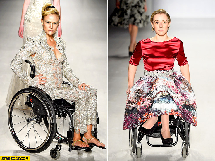 Disabled models on runaway New York Fashion Week