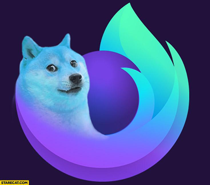 Doge firefox icon logo dog meme