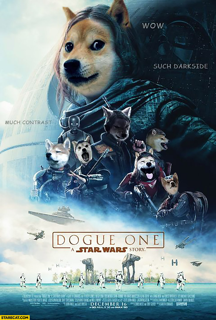 Dogue One Rogue One doge Star Wars poster photoshopped