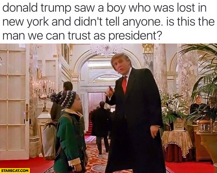 Donald Trump saw a boy lost in New York and didn't tell anyone Kevin Home Alone