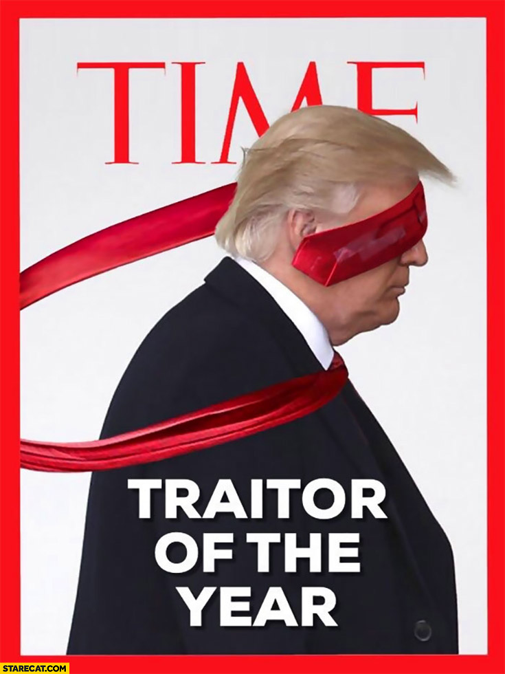 Donald Trump Time cover traitor of the year