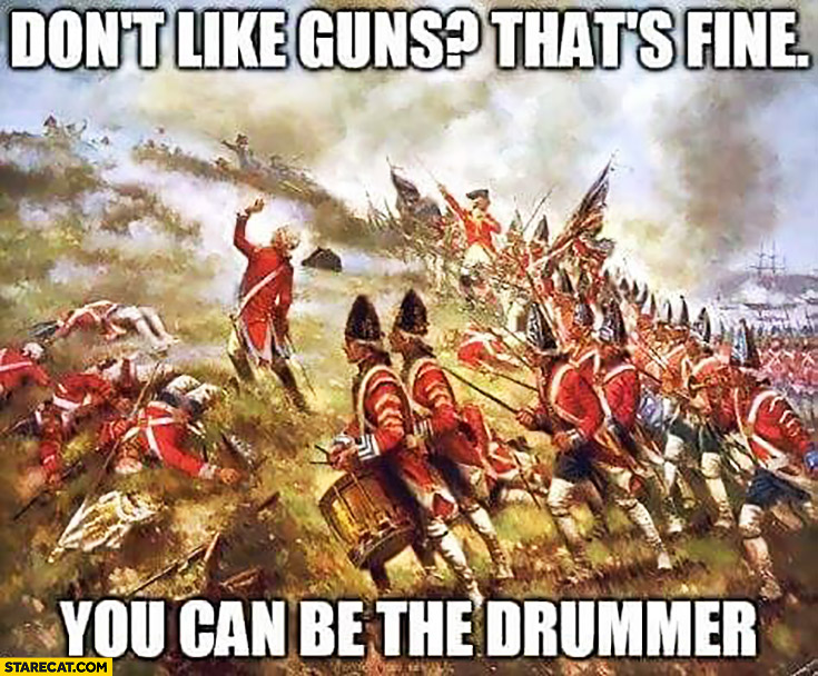 Don't like guns? That's fine, you can be the drummer at war